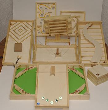 Viele Spiele Aus Holz 18 Tischbrettspiele In Der Praxis